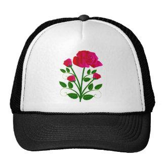 Rosas rosáceos hermosos gorro de camionero