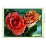 """""""Rosas Rosadas """" Tarjeta De Felicitación"""