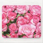 Rosas rosados alfombrilla de ratones
