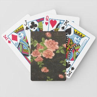 Rosas rosados baraja de cartas bicycle