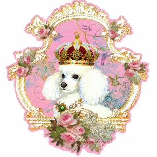 Rosas rosados blancos de la princesa n del caniche esculturas fotograficas