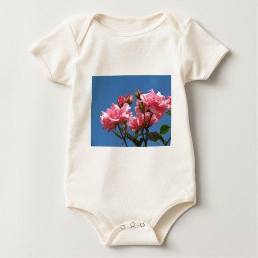 Rosas rosados body para bebé