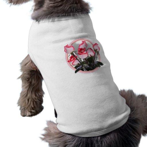Rosas rosados bonitos camisas de mascota