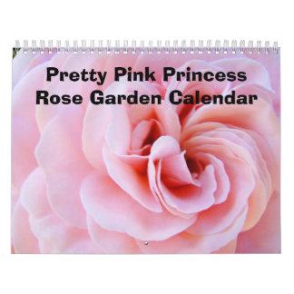 Rosas rosados bonitos del calendario de la princes
