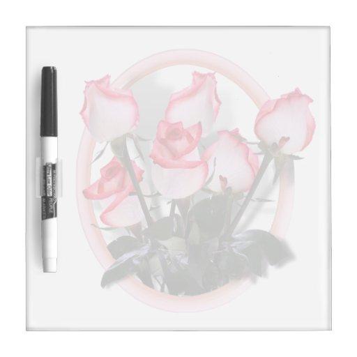 Rosas rosados bonitos pizarra