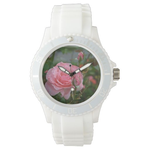 Rosas rosados bonitos relojes de pulsera