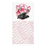 Rosas rosados bonitos tarjeta con foto personalizada