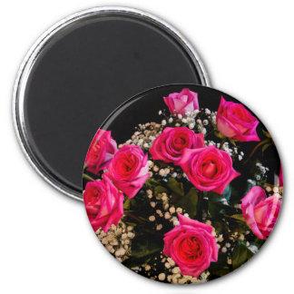 Rosas rosados con todo mi amor imanes