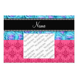 Rosas rosados conocidos personalizados de la impresión fotográfica