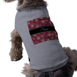 Rosas rosados conocidos personalizados camisas de mascota