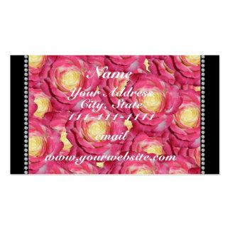 Rosas rosados conocidos personalizados tarjetas de visita