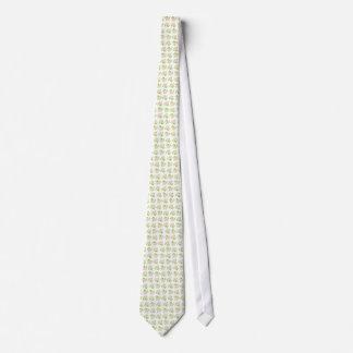 Rosas rosados de Albertina del vintage en blanco Corbata Personalizada
