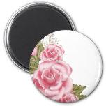 Rosas rosados de Digitaces Imán Redondo 5 Cm