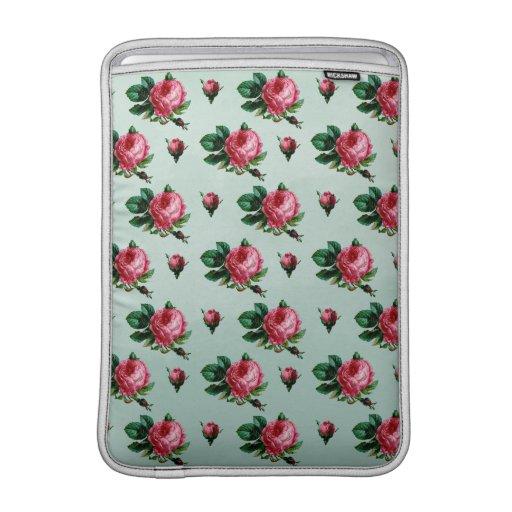 Rosas rosados de la col del vintage fundas MacBook