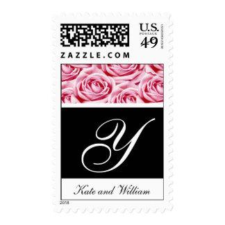 Rosas rosados de la letra Y del monograma que Envio
