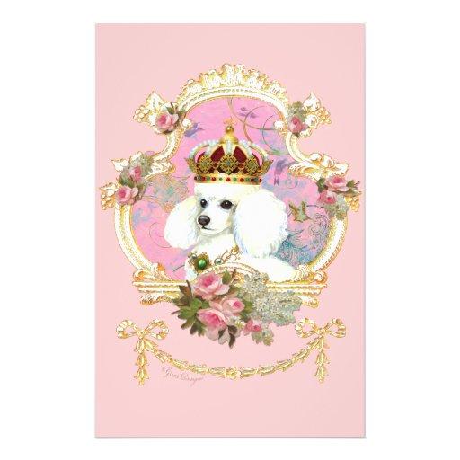 Rosas rosados de la princesa n del caniche tarjetones