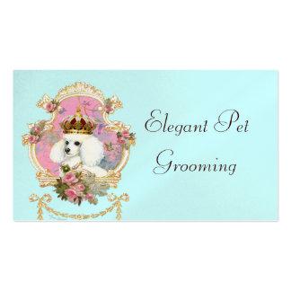 Rosas rosados de la princesa n del caniche tarjetas de visita