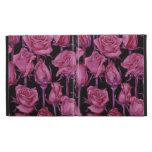 rosas rosados de los casos en folio del iPad