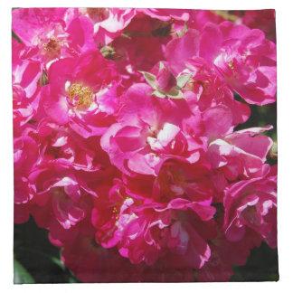 Rosas rosados del ensueño servilleta imprimida