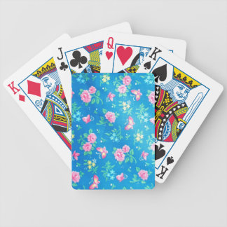 Rosas rosados del vintage cartas de juego