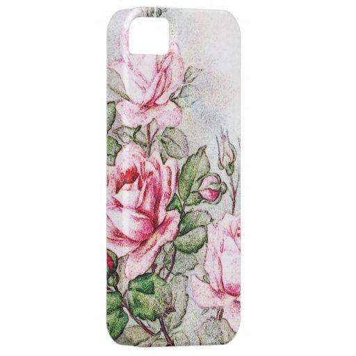 Rosas rosados del vintage iPhone 5 coberturas
