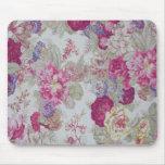 Rosas rosados elegantes femeninos del vintage tapetes de ratón