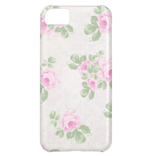 Rosas rosados elegantes florales del vintage funda para iPhone 5C