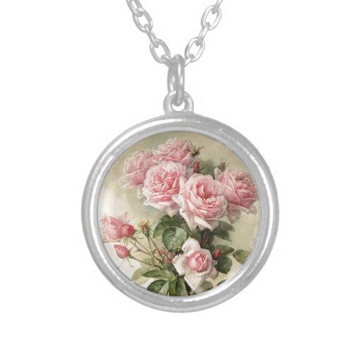 Rosas rosados elegantes lamentables del Victorian Colgante Redondo