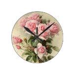 Rosas rosados elegantes lamentables del Victorian Relojes