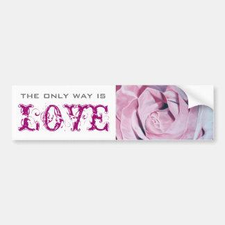 Rosas rosados elegantes románticos del vintage ele pegatina para auto