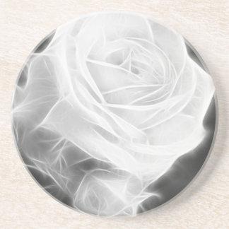Rosas rosados en el cristal de Anzures 2 Posavasos Diseño