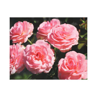 Rosas rosados en la floración impresión en lona