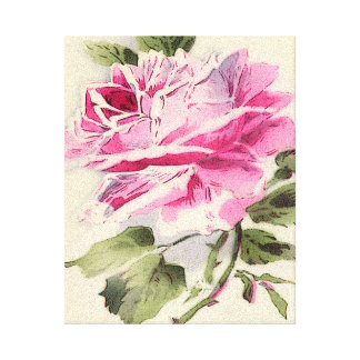 rosas rosados, flores impresiones en lienzo estiradas