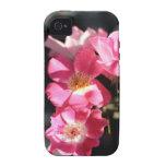 Rosas rosados - fotografía de la bella arte Case-Mate iPhone 4 fundas