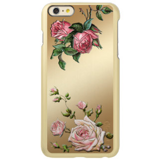 Rosas rosados grabados en relieve elegantes en