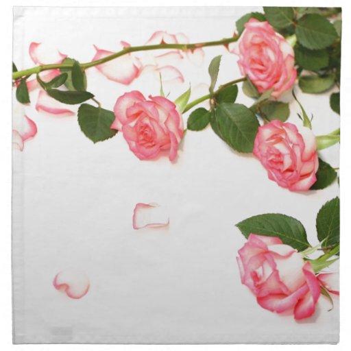 Rosas rosados hermosos servilleta de papel