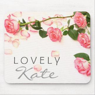 Rosas rosados hermosos tapete de ratón