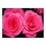 Rosas rosados invitación 12,7 x 17,8 cm