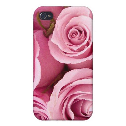 Rosas rosados iPhone 4/4S fundas