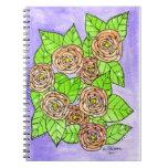 Rosas rosados libro de apuntes con espiral