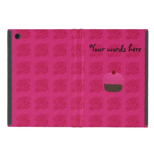 Rosas rosados lindos de la magdalena del brillo iPad mini coberturas