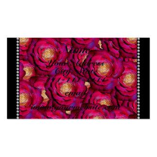 Rosas rosados marrón conocidos personalizados tarjetas de visita
