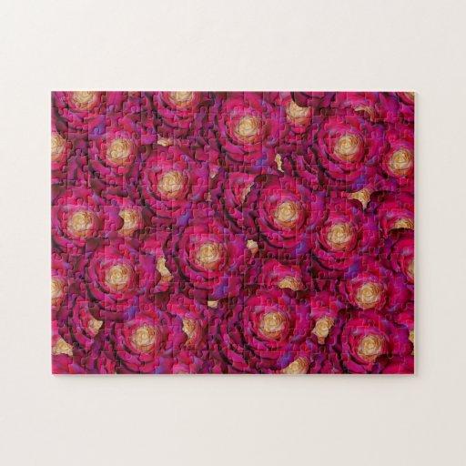 Rosas rosados marrón rompecabezas