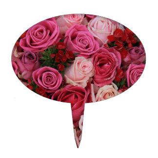 Rosas rosados mezclados por Therosegarden Figura Para Tarta