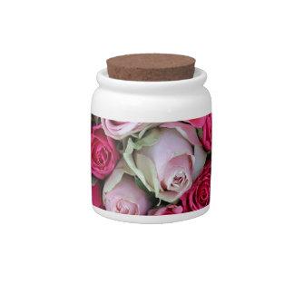 Rosas rosados mezclados por Therosegarden Jarras Para Caramelos