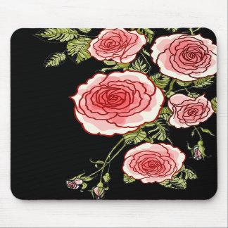 Rosas rosados Mousepad del vintage Alfombrilla De Raton