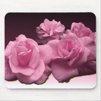 Rosas rosados Mousepad Alfombrilla De Ratón