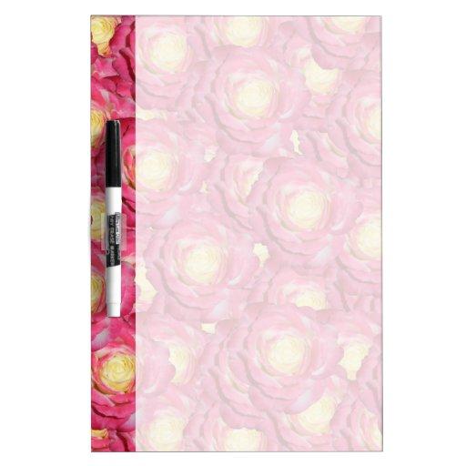 Rosas rosados pizarras blancas de calidad