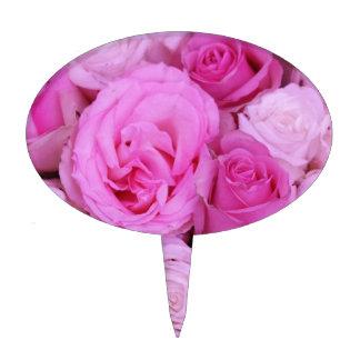 Rosas rosados por Therosegarden Figura De Tarta