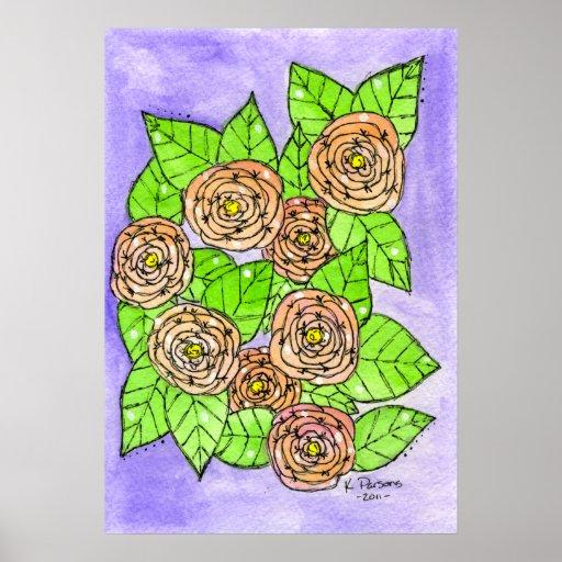 Rosas rosados posters